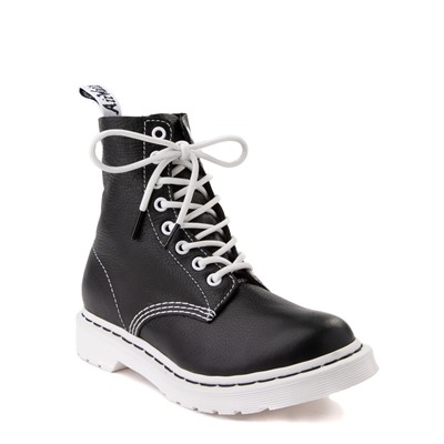 Alternate view of Womens Dr. Martens 1460 Pascal 8-Eye Boot - Black / White