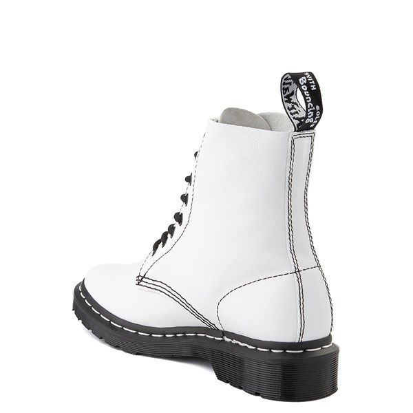 alternate view Womens Dr. Martens 1460 Pascal 8-Eye Boot - White / BlackALT2