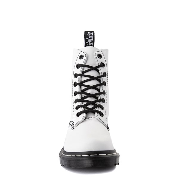 alternate view Womens Dr. Martens 1460 Pascal 8-Eye Boot - White / BlackALT4