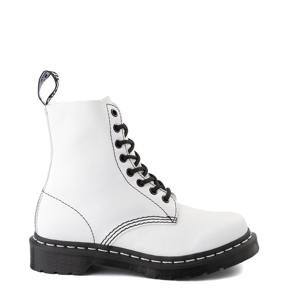 Womens Dr. Martens 1460 Pascal 8-Eye Boot - White / Black