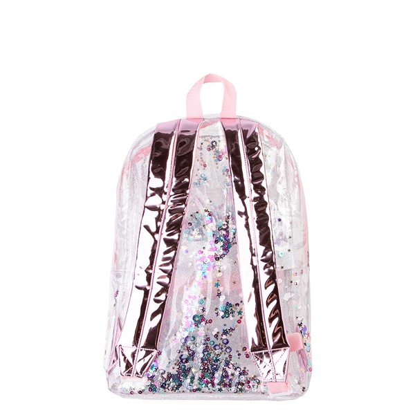 alternate view Shaky Glitter Backpack - Clear / PinkALT2