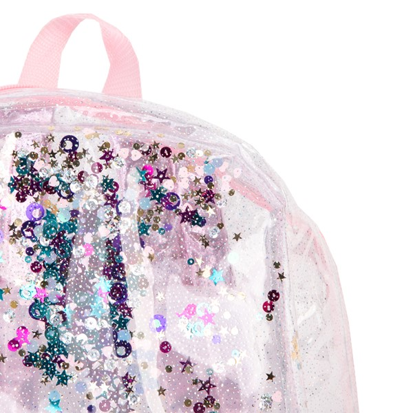 alternate view Shaky Glitter Backpack - Clear / PinkALT3B