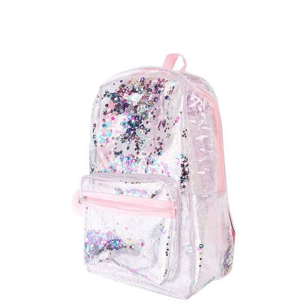 alternate view Shaky Glitter Backpack - Clear / PinkALT4