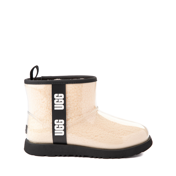 Main view of UGG® Classic Clear Mini II Boot - Toddler / Little Kid / Big Kid - Natural / Black
