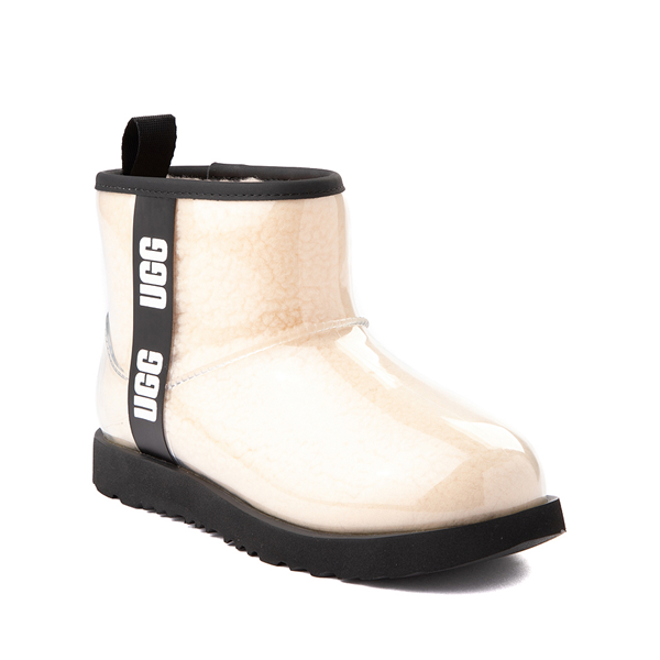 alternate view UGG® Classic Clear Mini II Boot - Toddler / Little Kid / Big Kid - Natural / BlackALT5
