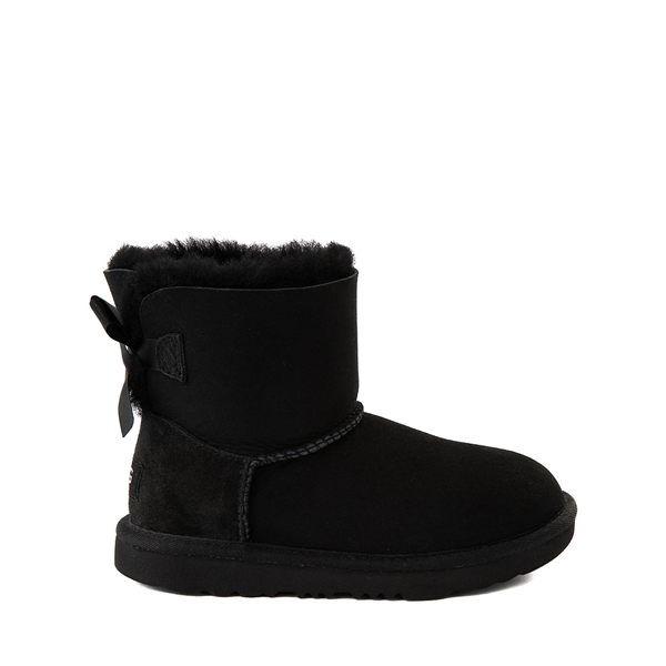 Main view of UGG® Mini Bailey Bow II Boot - Little Kid / Big Kid - Black