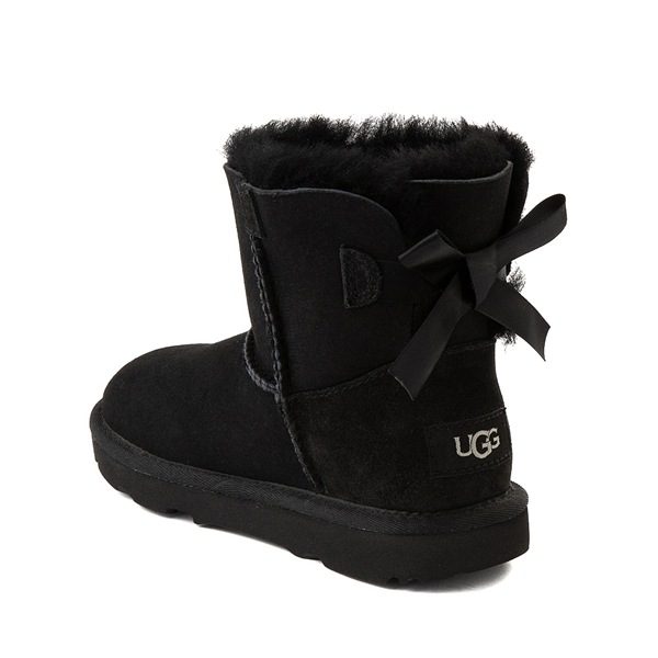 alternate view UGG® Mini Bailey Bow II Boot - Little Kid / Big Kid - BlackALT1