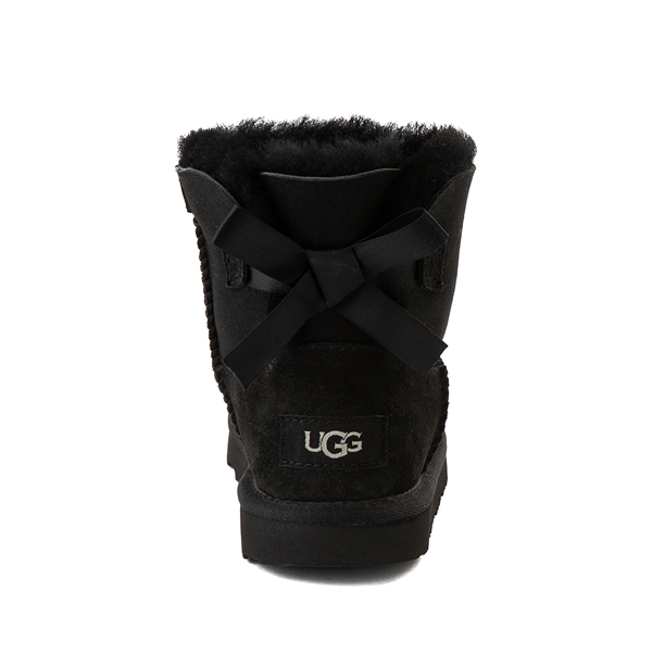 alternate view UGG® Mini Bailey Bow II Boot - Little Kid / Big Kid - BlackALT4