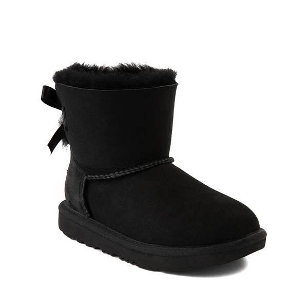 alternate view UGG® Mini Bailey Bow II Boot - Little Kid / Big Kid - BlackALT5