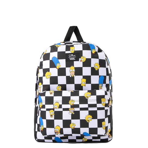 Main view of Vans x The Simpsons Old Skool Checkerboard Backpack - Black / White