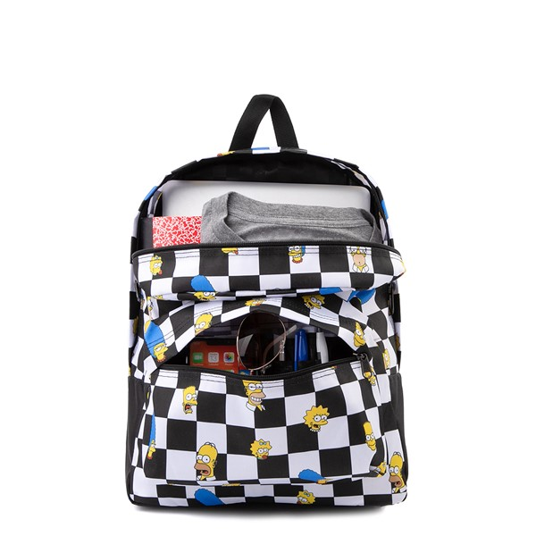alternate view Vans x The Simpsons Old Skool Checkerboard Backpack - Black / WhiteALT1