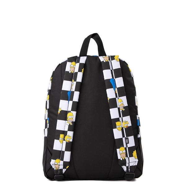 alternate view Vans x The Simpsons Old Skool Checkerboard Backpack - Black / WhiteALT2