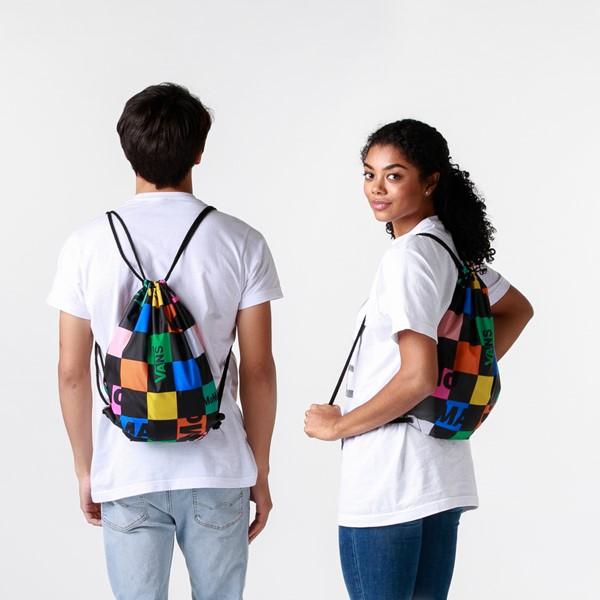 alternate view Vans x MoMA Checkerboard Cinch Bag - Black / MulticolorALT1