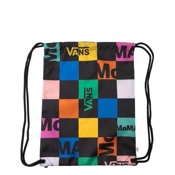 alternate view Vans x MoMA Checkerboard Cinch Bag - Black / MulticolorALT2