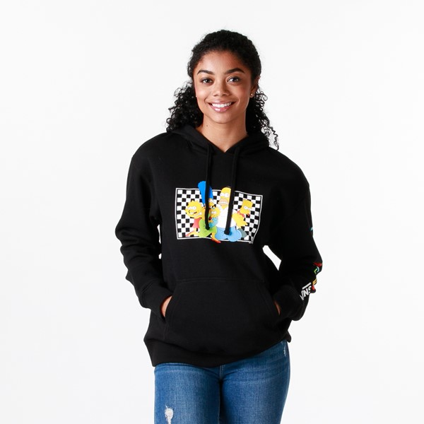 Womens Vans x The Simpsons Family Hoodie - Black