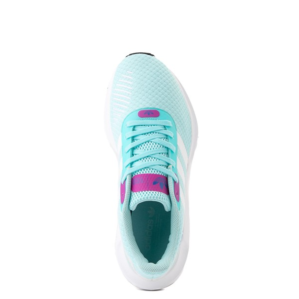 alternate view Womens adidas Swift Run RF Athletic Shoe - Aqua / BerryALT2