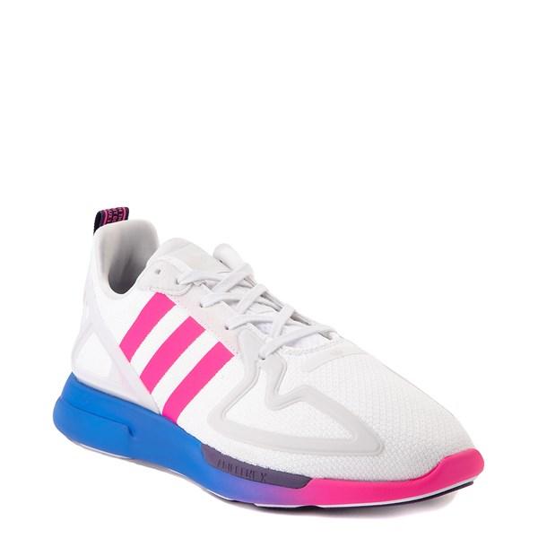 alternate view Womens adidas ZX 2K Flux Athletic Shoe - White / Blue / Pink GradientALT1