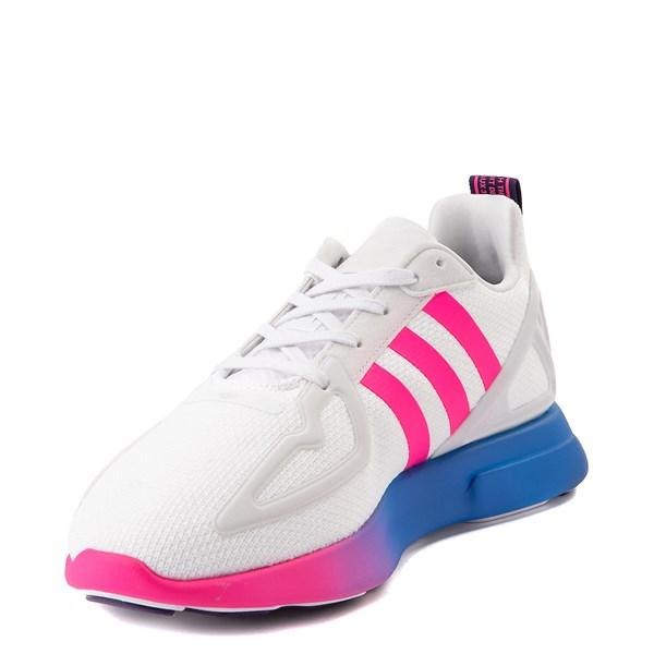 alternate view Womens adidas ZX 2K Flux Athletic Shoe - White / Blue / Pink GradientALT3