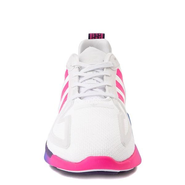 alternate view Womens adidas ZX 2K Flux Athletic Shoe - White / Blue / Pink GradientALT4