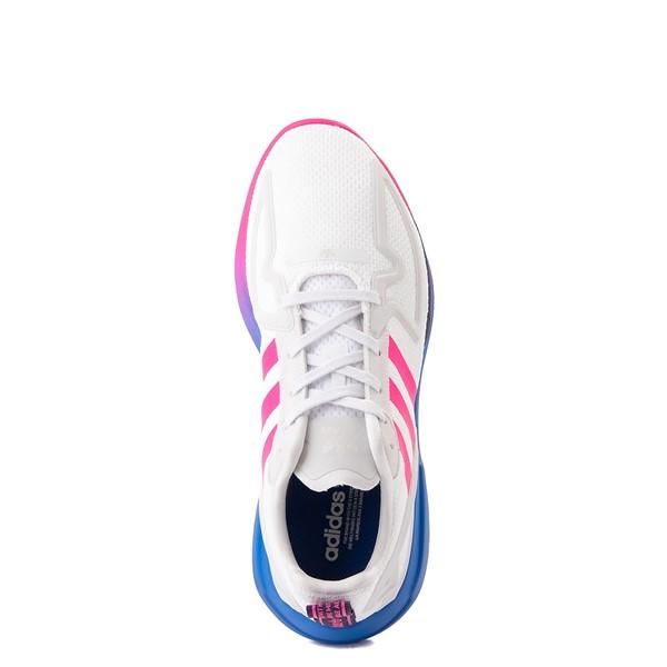 alternate view Womens adidas ZX 2K Flux Athletic Shoe - White / Blue / Pink GradientALT4B