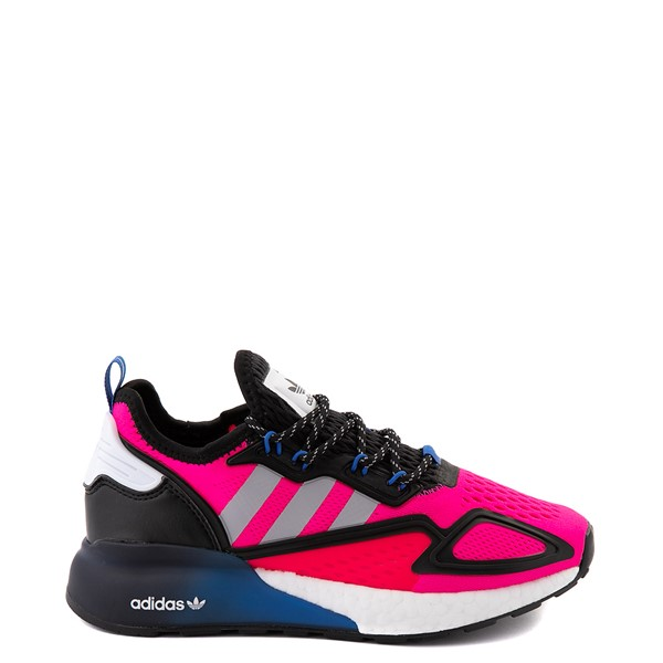 Womens adidas ZX 2K Boost Athletic Shoe - Shock Pink / Gray / Black