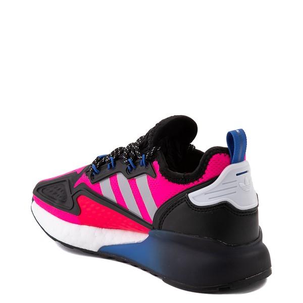 alternate view Womens adidas ZX 2K Boost Athletic Shoe - Shock Pink / Gray / BlackALT1