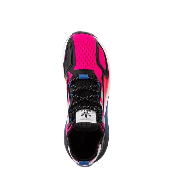 alternate view Womens adidas ZX 2K Boost Athletic Shoe - Shock Pink / Gray / BlackALT2