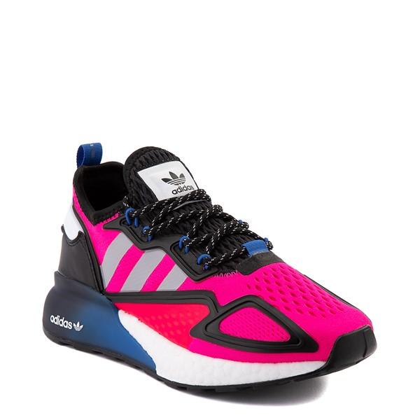 alternate view Womens adidas ZX 2K Boost Athletic Shoe - Shock Pink / Gray / BlackALT5