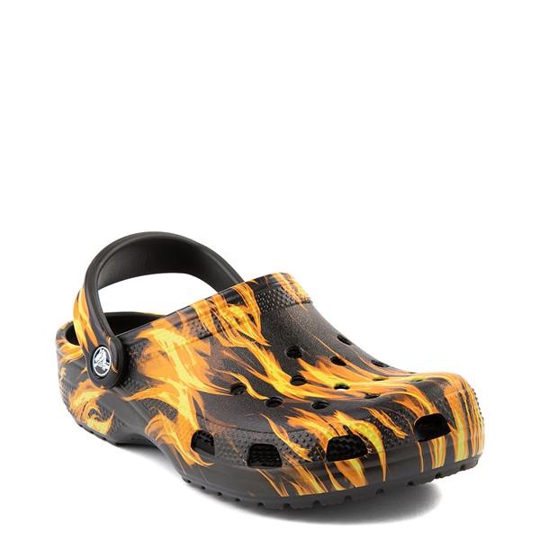 alternate view Crocs Classic Clog - Black / FlamesALT1