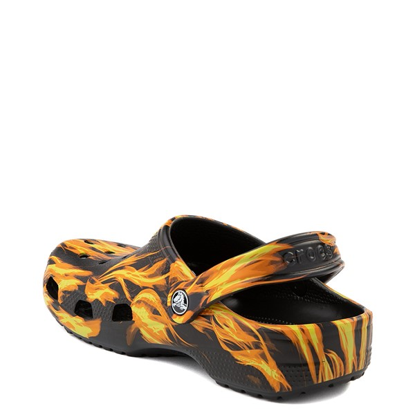 alternate view Crocs Classic Clog - Black / FlamesALT2