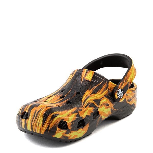 alternate view Crocs Classic Clog - Black / FlamesALT3