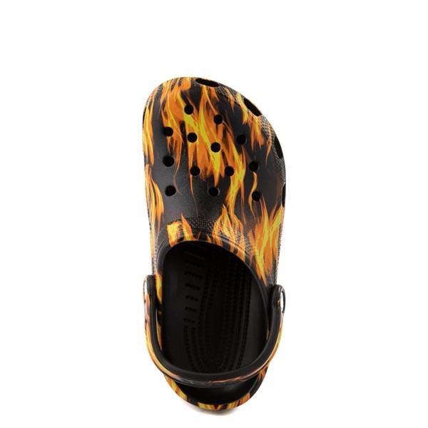alternate view Crocs Classic Clog - Black / FlamesALT4B