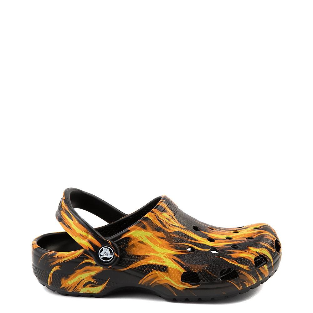 Crocs Classic Clog - Black / Flames