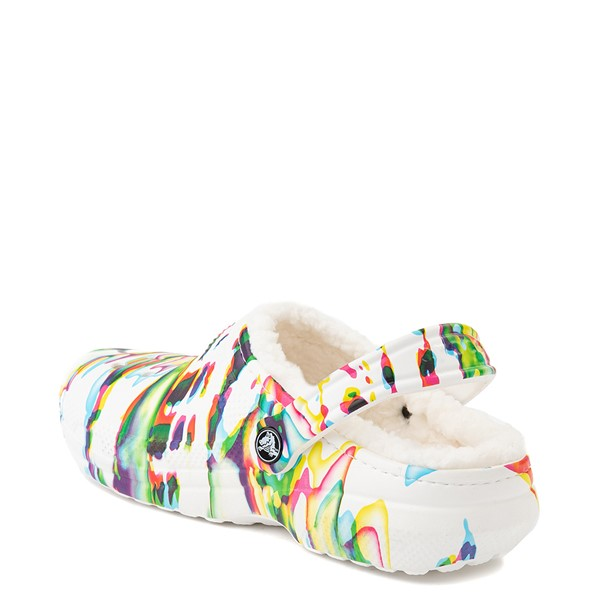 alternate view Crocs Classic Fuzz-Lined Clog - White / SplatterALT1