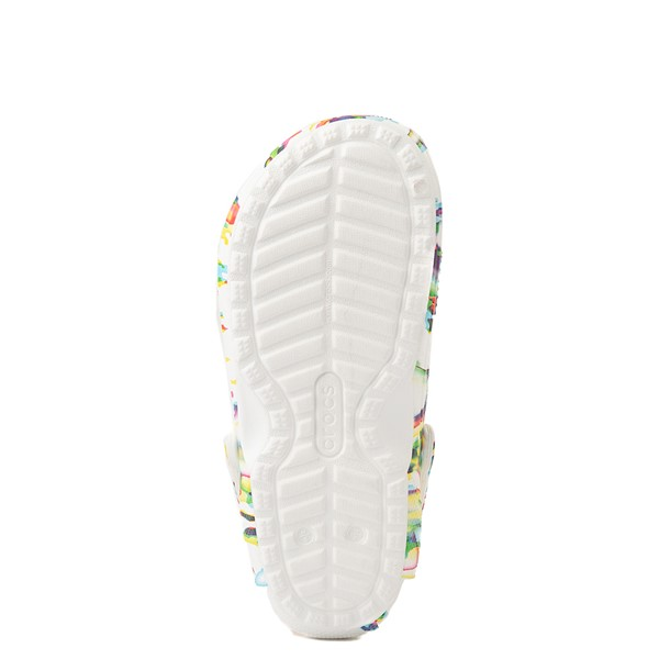 alternate view Crocs Classic Fuzz-Lined Clog - White / SplatterALT3