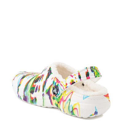 Alternate view of Crocs Classic Fuzz-Lined Clog - White / Splatter