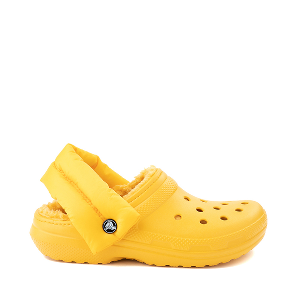 Main view of Crocs Classic Fuzz-Lined Neo Puff Clog - Canary