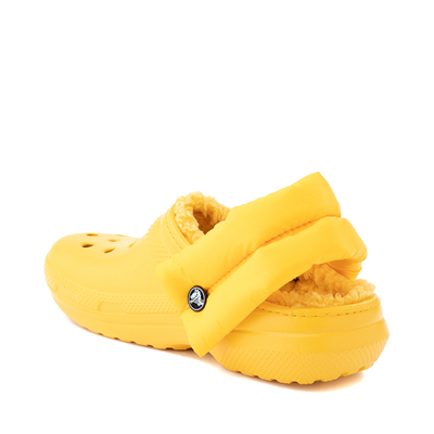 Alternate view of Crocs Classic Fuzz-Lined Neo Puff Clog - Canary
