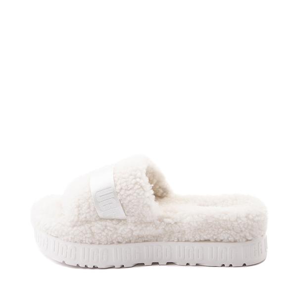alternate view Womens UGG® Fluffita Slide Sandal - WhiteALT1