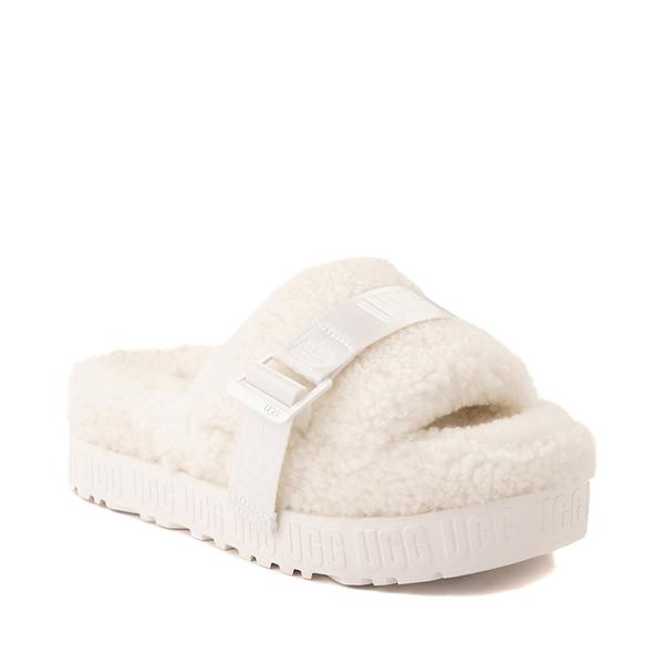 alternate view Womens UGG® Fluffita Slide Sandal - WhiteALT5