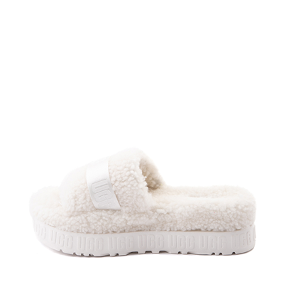 Alternate view of Womens UGG® Fluffita Slide Sandal - White