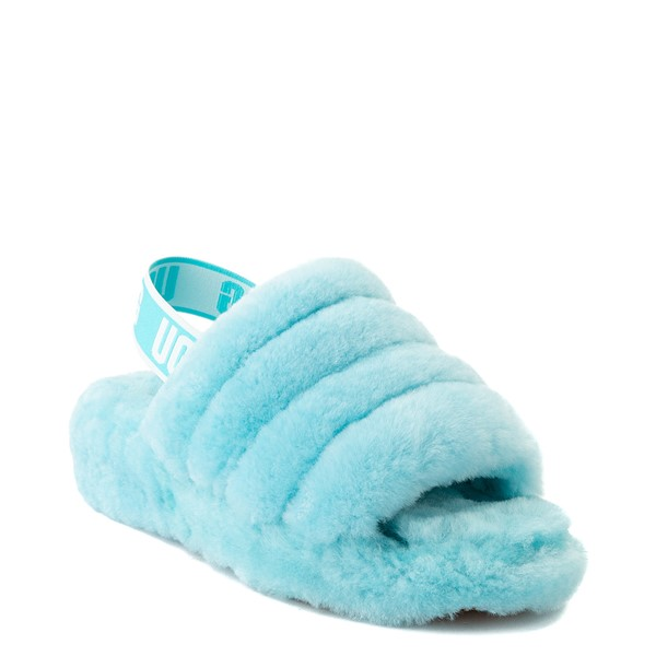 alternate view Womens UGG® Fluff Yeah Slide Sandal - Clear WaterALT1