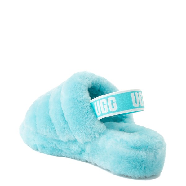 alternate view Womens UGG® Fluff Yeah Slide Sandal - Clear WaterALT2
