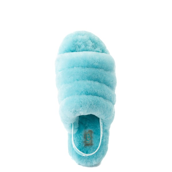 alternate view Womens UGG® Fluff Yeah Slide Sandal - Clear WaterALT4B