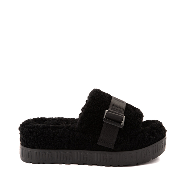 Main view of Womens UGG® Fluffita Slide Sandal - Black