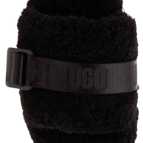 alternate view Womens UGG® Fluffita Slide Sandal - BlackALT2B