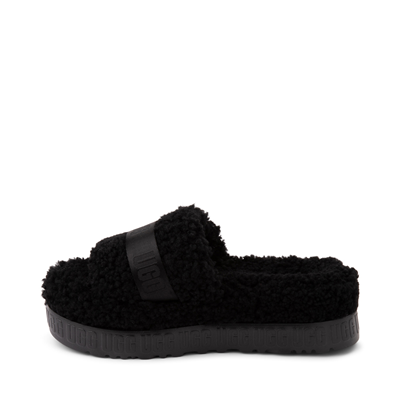 Alternate view of Womens UGG® Fluffita Slide Sandal - Black