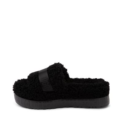 Alternate view of Womens UGG® Fluffita Slide Sandal - Black