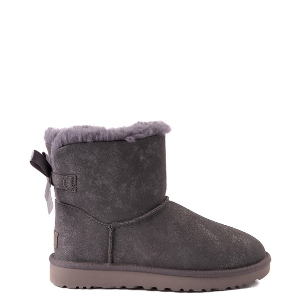 Womens UGG® Mini Bailey Bow II Shimmer Boot - Nightfall