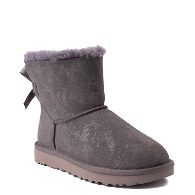 Alternate view of Womens UGG® Mini Bailey Bow II Shimmer Boot - Nightfall